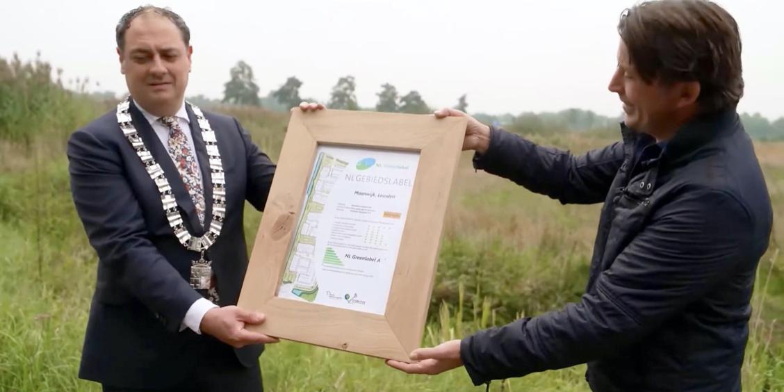 Burgemeester Bouwmeester ontvangt het NL Gebiedslabel A van Lodewijk